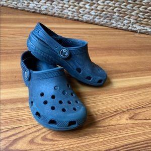 Kids Navy Crocs Size 11